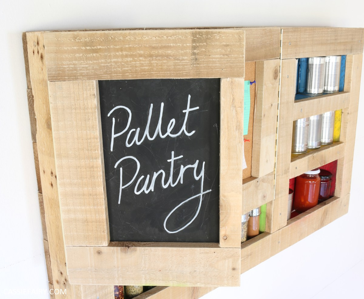 How to make a kitchen pantry unit from recycled pallet wood